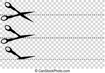 Scissor - Cut Here - Simple Sign, Scissor, cut here