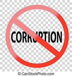 Sign - No Corruption - Vector Sign - No Corruption