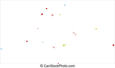 Abstract colorful circles video animation