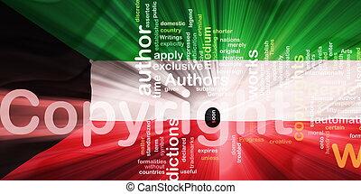 Flag of Kuwait wavy copyright law - Flag of Kuwait, national...