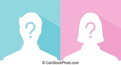 anonymous male and female profile picture emotion,...