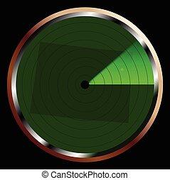 Radar on Colorado - The screen of a typical radar device in...