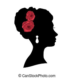 bridal - vector bridal head silhouette