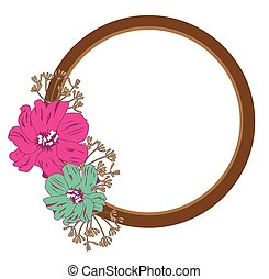 mirror - vector mirror with flowers
