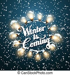 Luminous Electric Wreath - Winter is coming Glowing Lights...