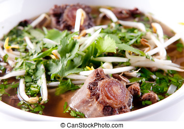 oxtail pho soup, a vietnamese classic meal