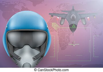 Military Pilot vector background