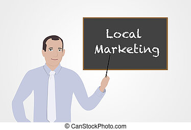 Businessman supporting businesses - Businessman supporting...