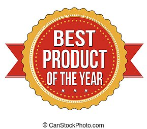 Best product of the year label or stamp