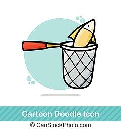 Fishing net doodle