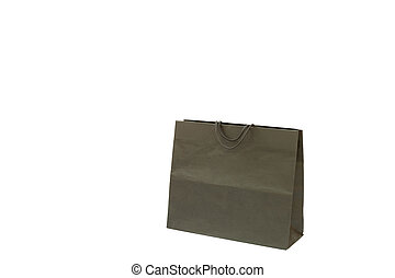 Paper shopping bag with Handles Isolated on white background...