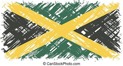 Jamaican grunge flag. Vector illustration. Grunge effect can...