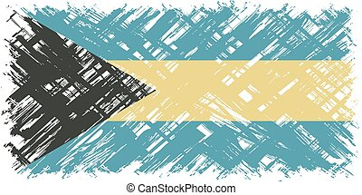 Bahamas grunge flag Vector illustration Grunge effect can be...