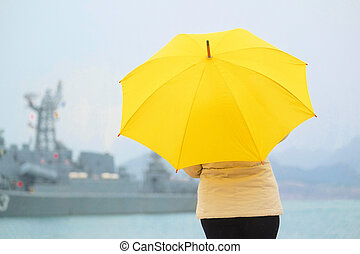girl with umbrella - The image of a girl with umbrella