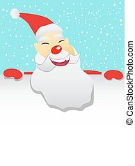 Santa with blank sheet - the background of Santa with blank...