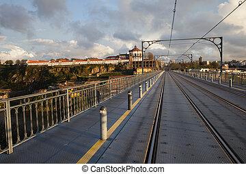 Dom Luis I Bridge Over Douro River in Porto