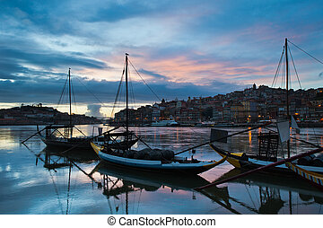 City of Porto in the Evening