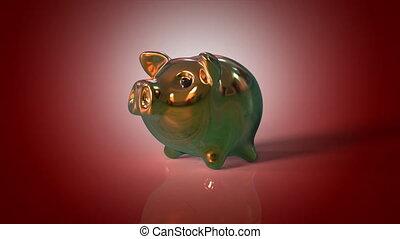 świnka, bank,