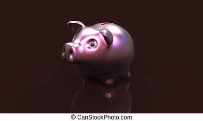 świnka,  bank