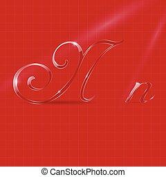 Glassy Letters in Italics