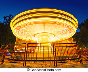 Merry-go-round light - Fast merry-go-round lighting in the...