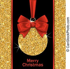 Glitter Card with Christmas Ball