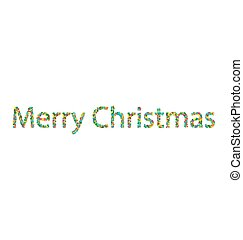 Merry Christmas lettering from colourful confetti - Merry...