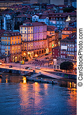 Old City of Porto in the Evening