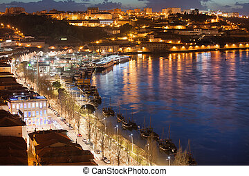 Vila Nova de Gaia by Night in Portugal - Vila Nova de Gaia...