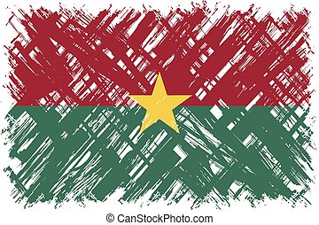 Burkina Faso grunge flag Vector illustration Grunge effect...