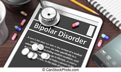 """tableta, con, """"Bipolar, Disorder"""", en, pantalla,..."""
