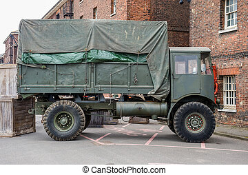 Military truck - Large green vintage military truck