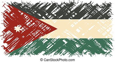 Jordan grunge flag Vector illustration Grunge effect can be...