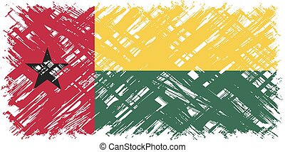 Guinea-Bissau grunge flag Vector illustration Grunge effect...