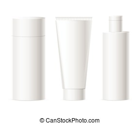 Vector set of cosmetics packages