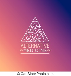 Vector alternative medicine logo design template - wellness...