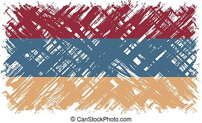 Armenian grunge flag. Vector illustration. Grunge effect can...