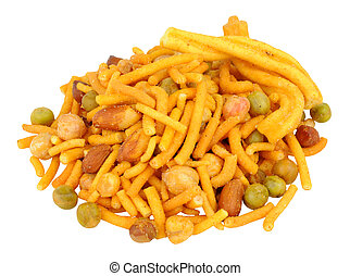 Bombay Mix Savoury Snack - Spicy Bombay savoury snack mix...