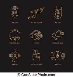 Vector set of logo design templates