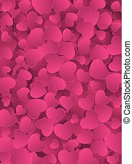 Happy Valentines Day Heart Card Background. Vector Illustration