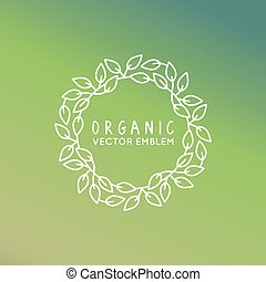 Vector floral wreath and linear border - abstract design...