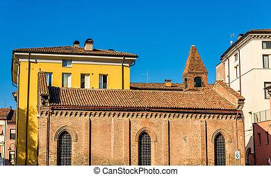 Buildings on Piazza della Repubblica in Ferrara - Italy