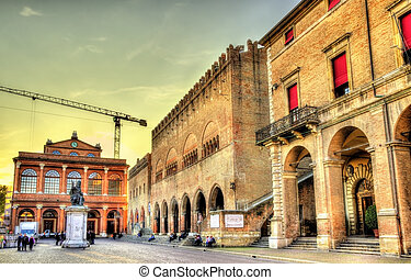 View of Piazza Cavour in Rimini - Italy