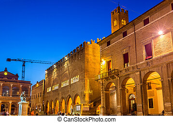 Municipal buildings on Piazza Cavour in Rimini - Italy