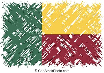 Benin grunge flag Vector illustration Grunge effect can be...