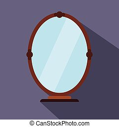 Mirror flat icon for web and mobile devices