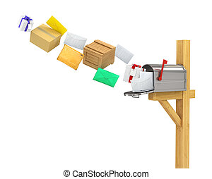Mailbox (flying parcels and letters)