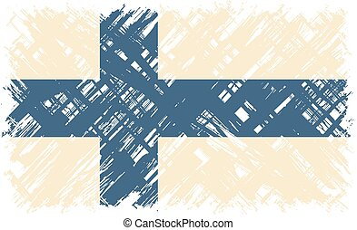 Finnish grunge flag Vector illustration Grunge effect can be...