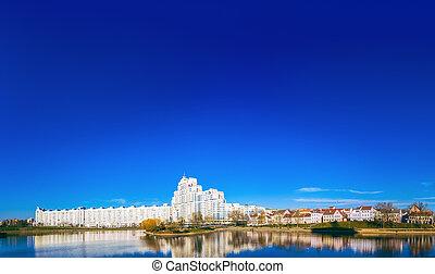 Building In Minsk, Downtown Nemiga, Belarus - Building In...
