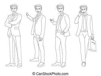 Business Man Full Body Illustration